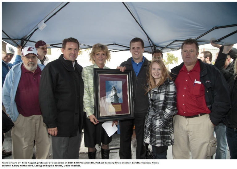Thacker family with Fred Ruppel and President Benson